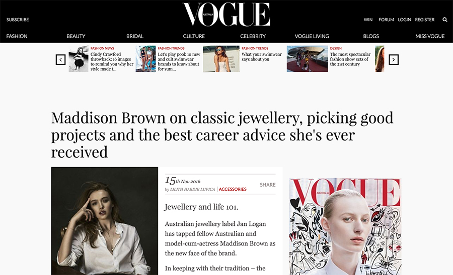 Maddison Brown_Vogue