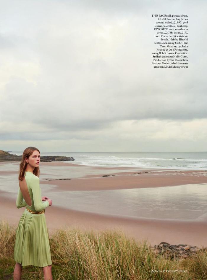 e3d8e8b82129f Julie Hoomans covers Harper's Bazaar UK April 2019 by Agata ...